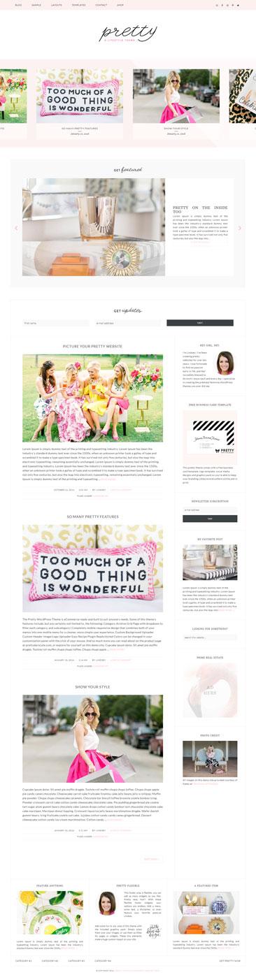 Pretty WordPress theme