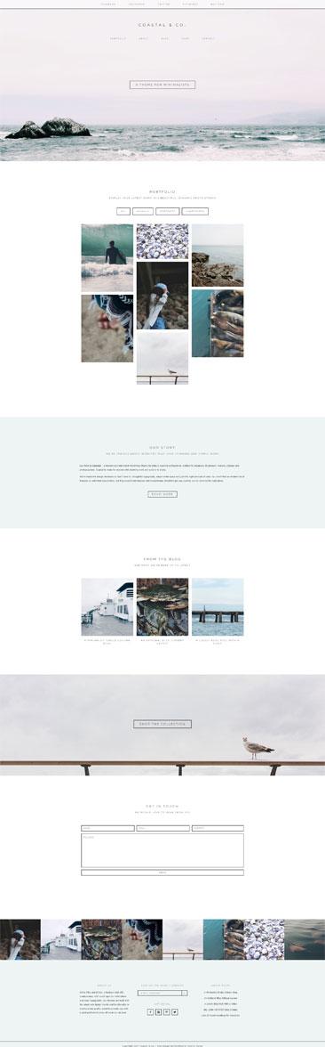 Coastal WordPress Theme